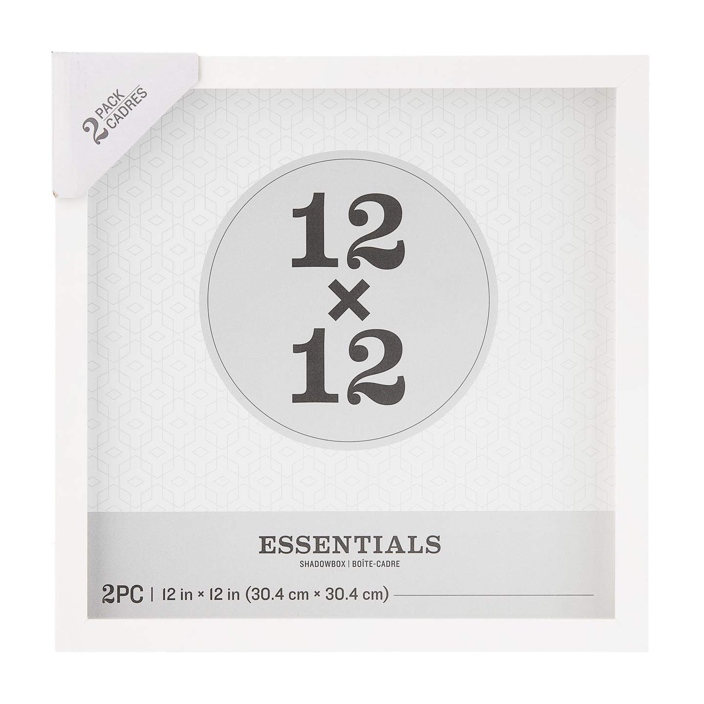 Darice Essentials White 12 x 12 inches, 2 Pieces Shadow Box, by Darice
