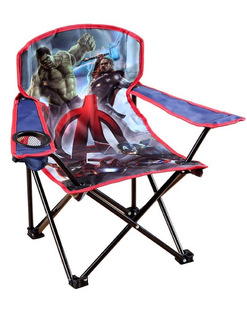 Amazon.com: Avengers Marvel Age Of Ultron Childu0027s Folding Camping Chair  W/drink Holder And Sling Bag: Home U0026 Kitchen