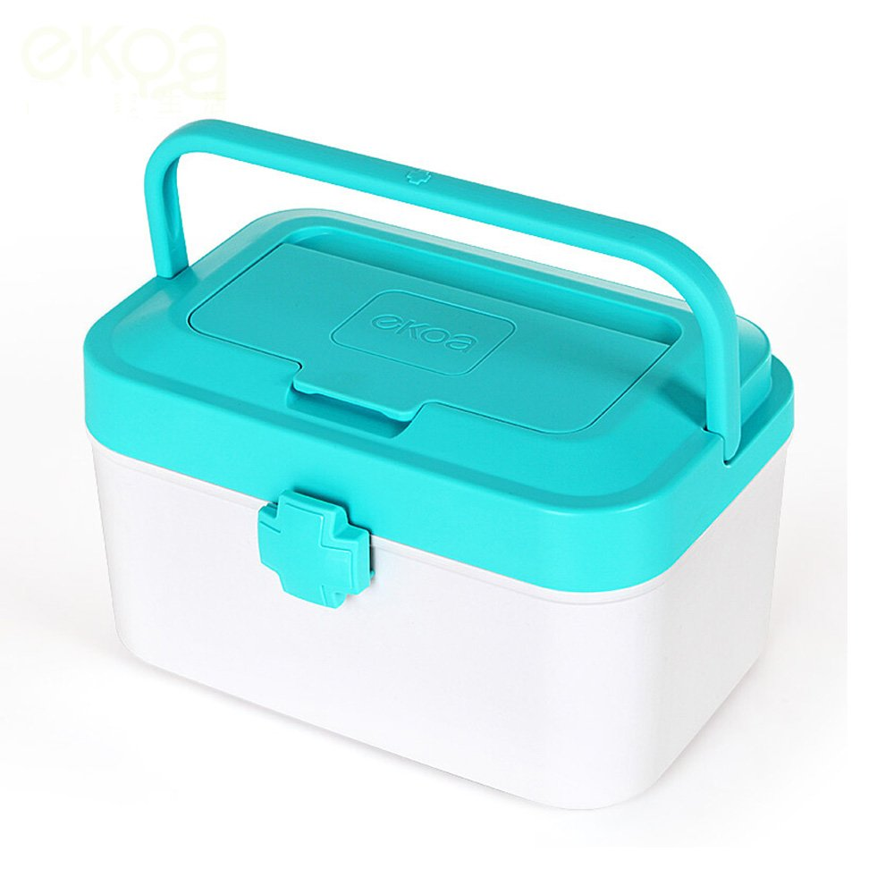 Wangmy Haushalts-Medizin-Kasten-großer Medizin-Kasten-Haushalts-Medizin-Kasten-Verteilerkasten Multifunktionsgesundheits-Produkte Aufbewahrungsbehälter 24  14.5  15cm (Farbe : 0012)