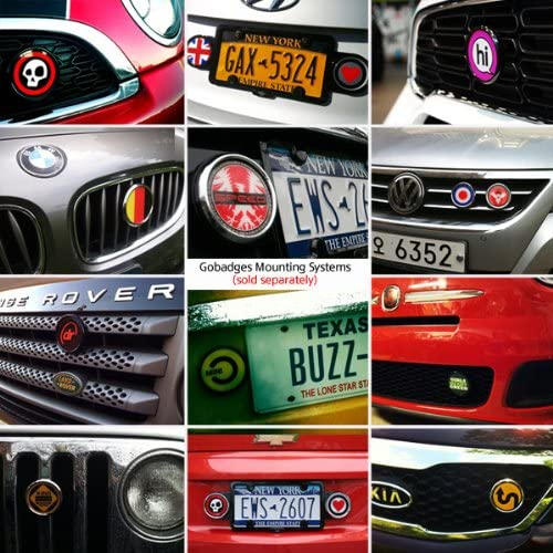 3 Magnetic Grill Badge//UV Stable /& Weather-Proof//Works Grill Badge Holder CD0509 GoBadges Tennis Ball