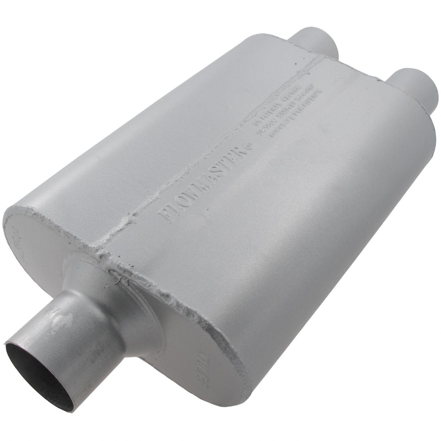 Flowmaster 9425422 40 Delta Flow Muffler Aggressive Sound 2.50 Center IN 2.25 Dual OUT