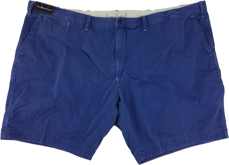 Polo Ralph Lauren Men's Big & Tall Flat Front Shorts (56B, Royal Blue)