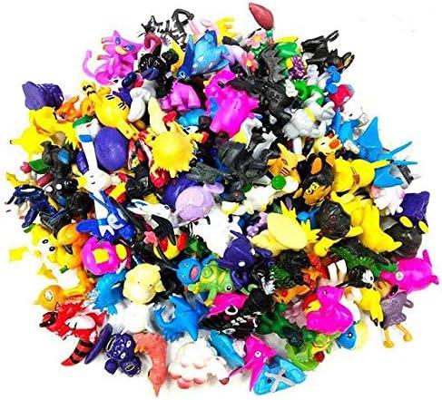 Funmo - 24 Piezas Pokemon Pikachu Monstruo, Pokemon Pikachu Monstruo Mini Figuras de plástico tamaño pequeño Regalo