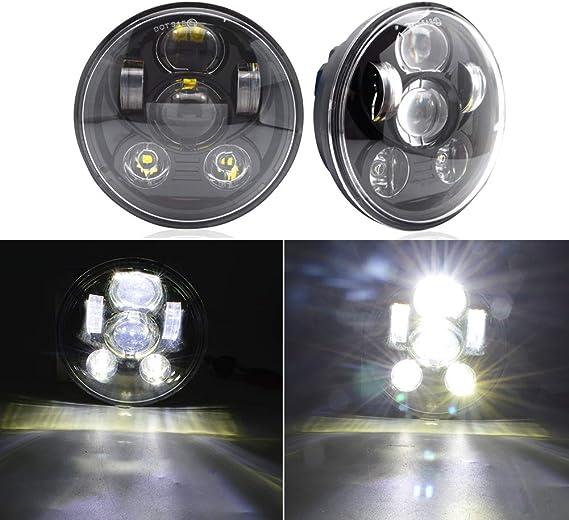 5 75 100w Led Scheinwerfer Safego Frontscheinwerfer Für Motorrad J Eep Wrangler Jk Tj Ring Angel Eyes 1 Stück 1 Jahr Garantie Auto