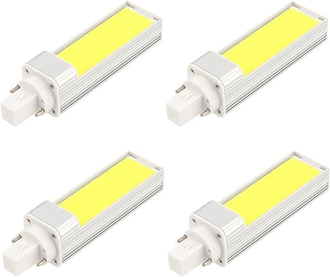 masonanic 4 Pack LED G24 CFL luz blanca lámpara G24 de aluminio ...
