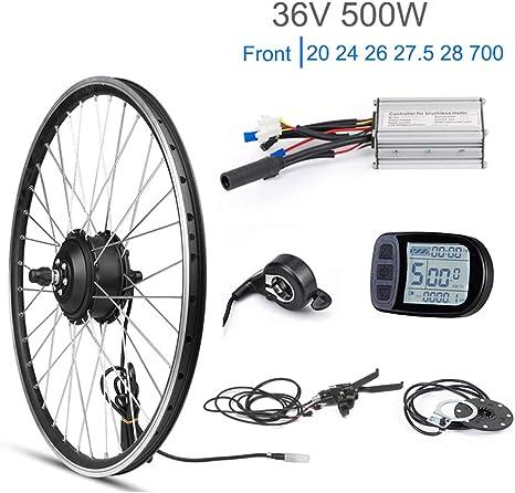 36 V 500 W Kit de Bicicleta eléctrica 20 26 27.5 Pulgadas Rueda ...