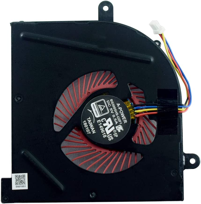 Replacement CPU Cooling Fan Compatible for MSI GS63 GS63VR GS73 GS73VR GS62 MS-17B1 MS-17B2 MS-16K2 MS-16K3 Stealth Pro BS5005HS-U2F1 Fan by YDLan