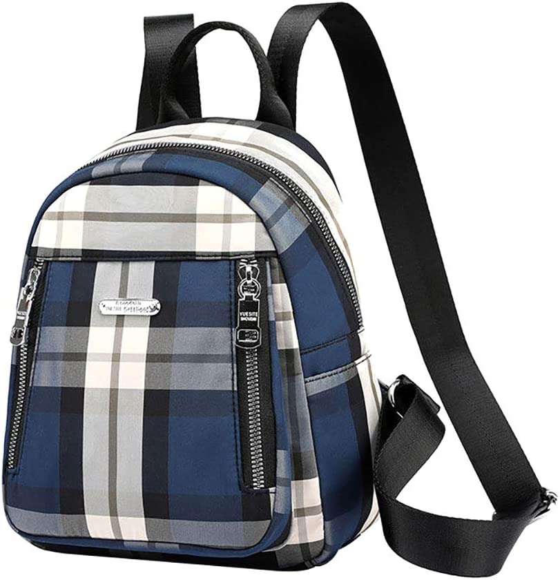Korean Style Mini Plaid Backpack Lightweight Daily Tiny Daypack for Women Girls