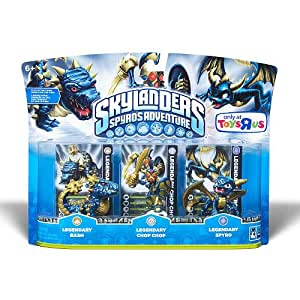 Skylanders Character Adventure Figures Legendary Bash, Legendary Chop Chop, Legendary Spyro