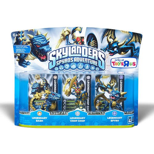 Skylanders Character Adventure Figures Legendary Bash, Legendary Chop Chop, Legendary Spyro -