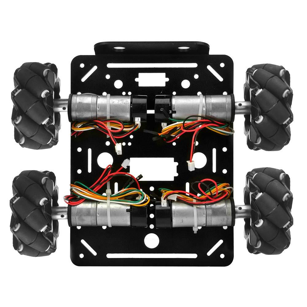 OSOYOO 4WD Omni Wheels Robotic Mecanum Wheels Robot Car Platform Chassis with Speed Encoder Motor for Arduino//Raspberry Pi//Micro:bit DIY