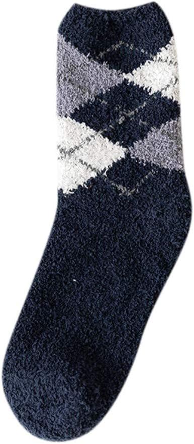 Womens Winter Socks Soft Warm Thick Cold Knit Wool Crew Socks Vintage Geometric Socks for Women and Girls