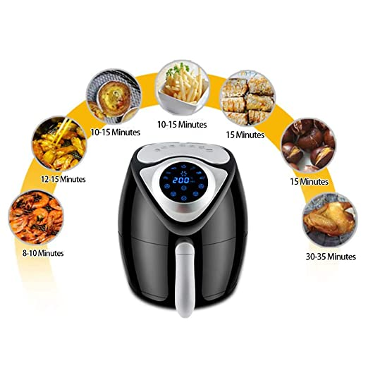 Culinary Expert Smart Power Air Fryer Horno Sin Aceite 7 Preajustes Pantalla Táctil Eléctrico Hot Airfryer Horno con La Receta De La Freidora De Aire, ...