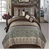 Sheetsnthings 11 PC California King Size Safari Bed in a Bag including: Comforter set and a Sheet set.