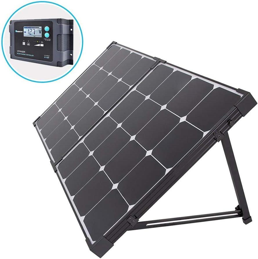Renogy 100 Watt Eclipse Monocrystalline Solar Suitcase Charge 20A Voyager Waterproof Controller, 100W-Waterproof