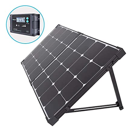side facing Renogy 100 Watt Eclipse Monocrystalline Solar Suitcase
