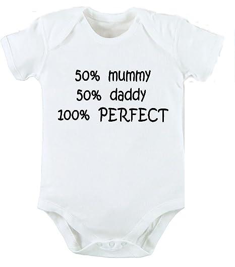 50% MUMMY 50% Daddy 100% ideal Body y gorro para bebé recién nacido ...