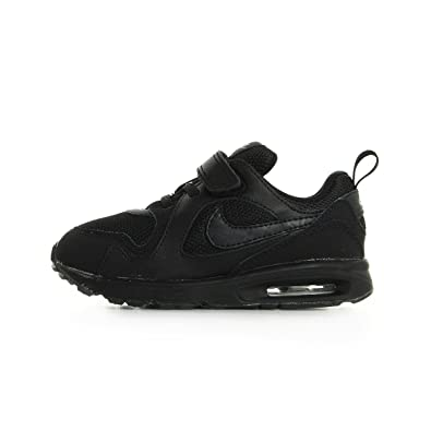 Nike Air MAX Trax (TDV) Zapatillas de Piel para niño Negro