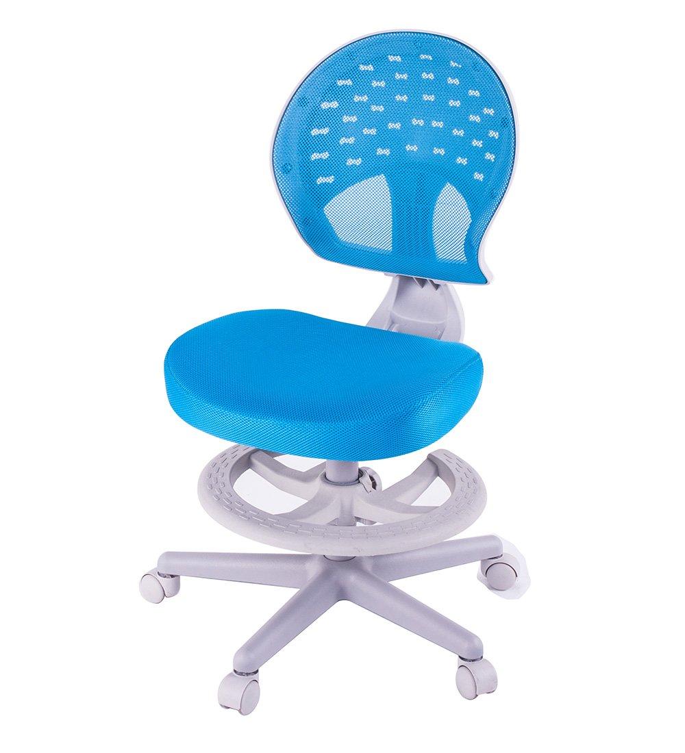 Merax Children's Desk Chair with Foot Rest 360 Degree Swivel (blue)