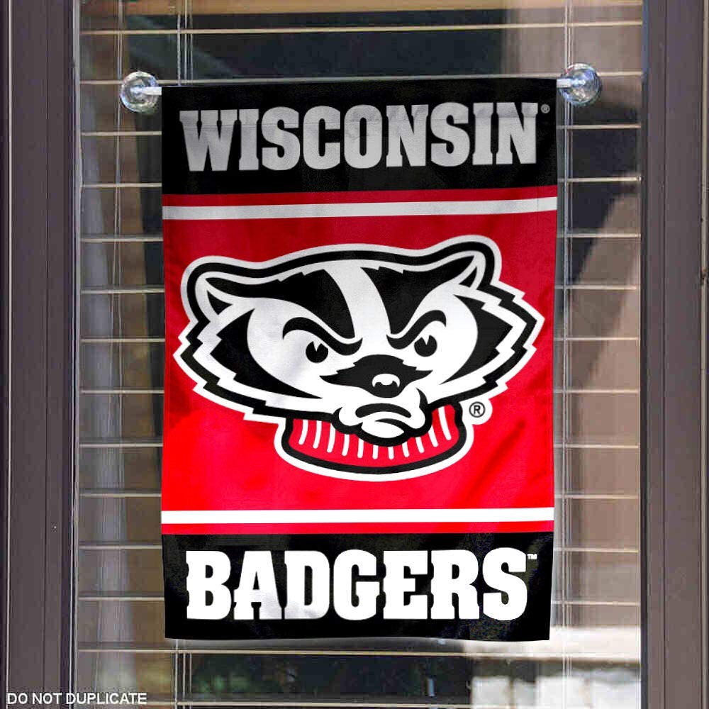 College Flags and Banners Co Wisconsin Badgers Garden Flag