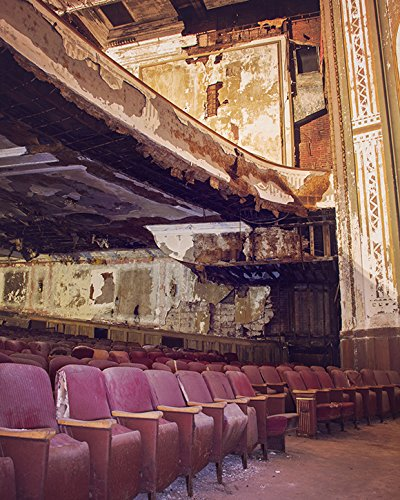 Abandoned Theater Urban Decay Old Vintage Style Historic Architecture Theatre Fine Art Photography -