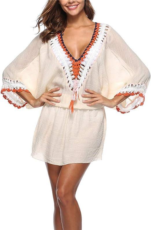 Falda de playa para mujer Mujeres bañándose con cuello en V de ...