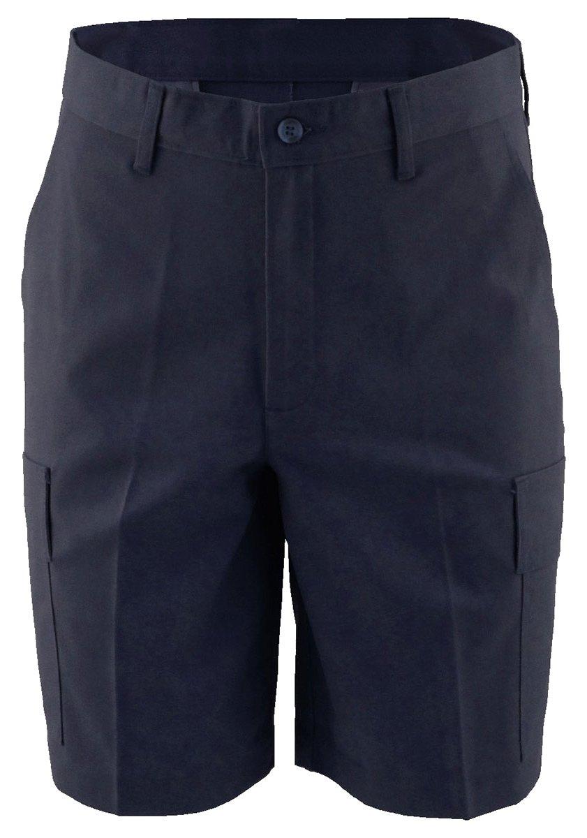 Ed Garments Men's Button Closure Wrinkle Resistant Pleated Short, NAVY, 42