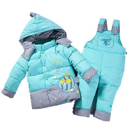 Yocobo Abrigo de niña Caliente Baby Boys Girls Winter Warm de Dos Piezas con Capucha Puffer