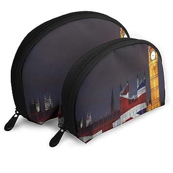 3a7ea610cb5a Amazon.com : Makeup Bag London Big Ben Union Jack Handy Half Moon ...