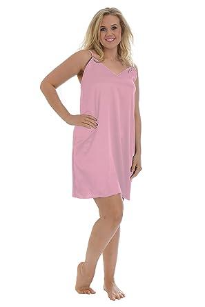 299c0b702ce Nouvelle New Womens Plus Size Ladies Satin Slip Cami Floral Chemise Camisole  Nouvelle  Amazon.co.uk  Clothing
