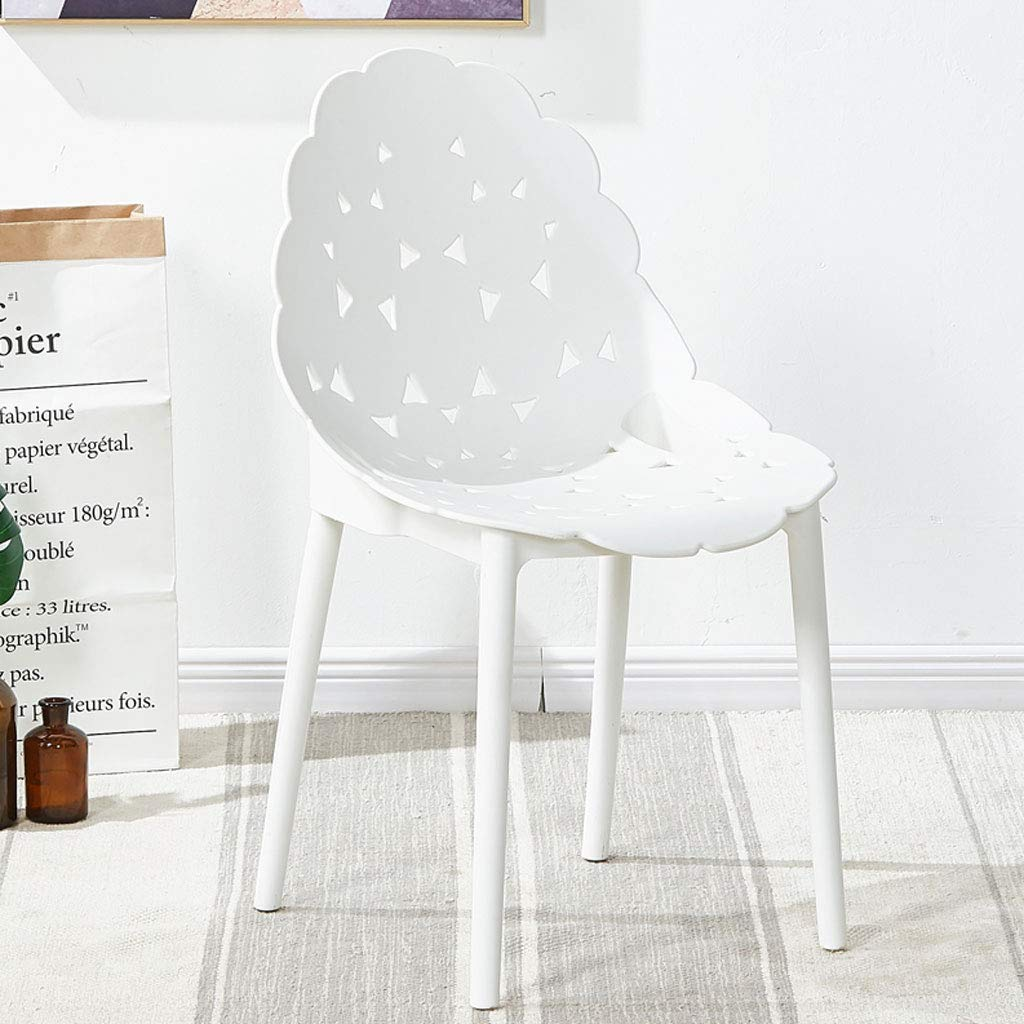 White L45CMXH90CM CHX Backrest Plastic Nordic Chair Simple Lazy Home Restaurant Style C (color   bluee, Size   L45CMXH90CM)