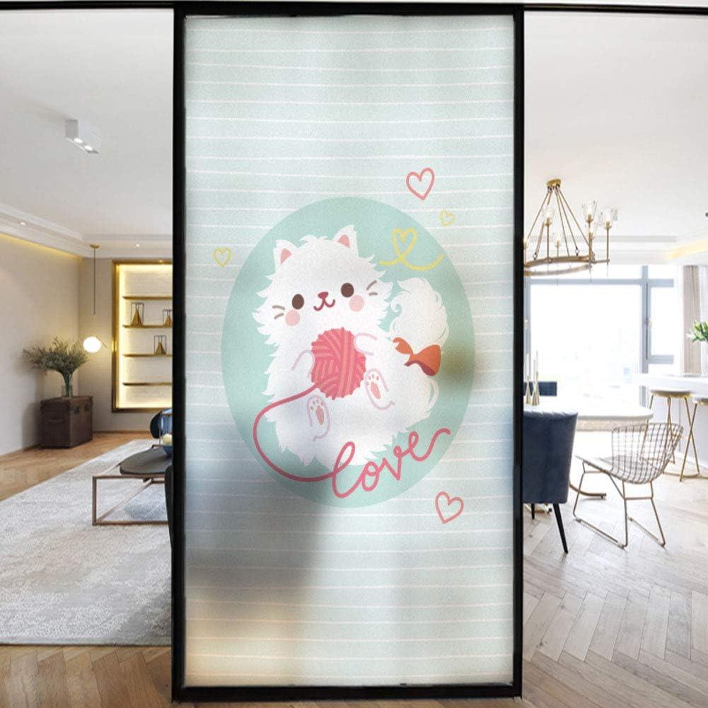12x24inch fgdsa Fen/être Statique,Autocollants De Verre De Confidentialit/é Non Adh/ésifs Imperm/éables,pour Bathroom Kitchen Sliding Door Window Film 3D Static-e 30x60cm