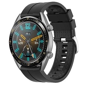 Disscool Bandas de Repuesto para Huawei Watch GT Active Smartwatch ...