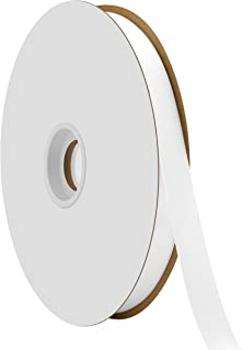 "product image for Offray Berwick 5/8"" Single Face Satin Ribbon, White, 100 Yds"