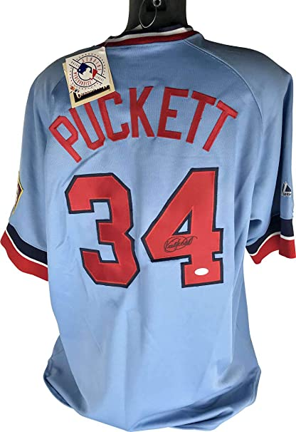 differently 5f1dc 1c119 At Puckett Twins Kirby Amazon's Store Jersey Signed Jsa ...