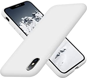 Cordking Phone Case iPhone Xs, iPhone X Case, Silicone Ultra Slim Shockproof Phone Case with [Soft Anti-Scratch Microfiber Lining], 5.8 inch, White