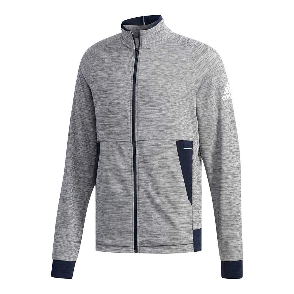 adidas-Men`s Knit Tennis Jacket Grey Six-(191524873789)