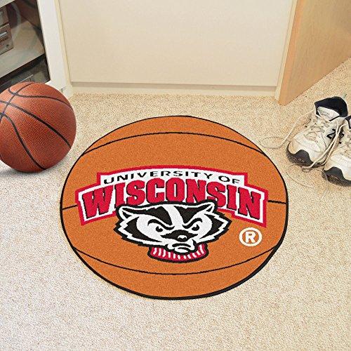 - University of Wisconsin Badgers Basketball Floor Rug Mat