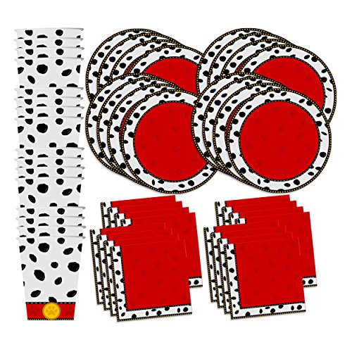 Dalmatians Birthday Party Supplies Set Plates Napkins Cups Tableware Kit for 16 by Birthday ()