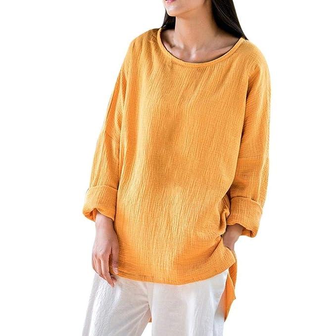... Verano Blusa Mujer Elegante Camisetas Mujer Camiseta Mujer Camisetas Mujer Fiesta Camisetas Pulóver Ropa cálida Mujer: Amazon.es: Ropa y accesorios