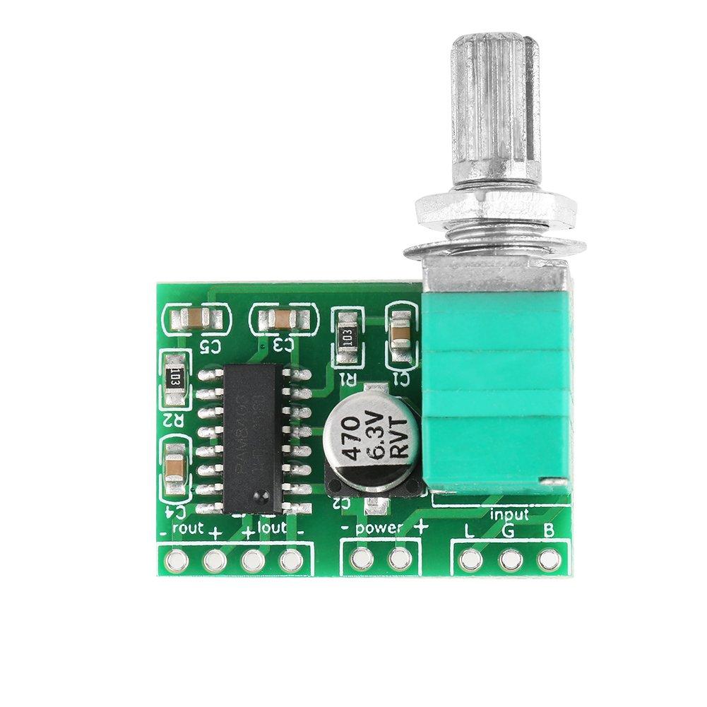 4 pi/èces PAM8403 Mini DC 5V Amplificateur audio num/érique Module damplificateur de puissance avec potentiom/ètre armoire de composants /électroniques PAM8403 Carte Mini carte damplificateur