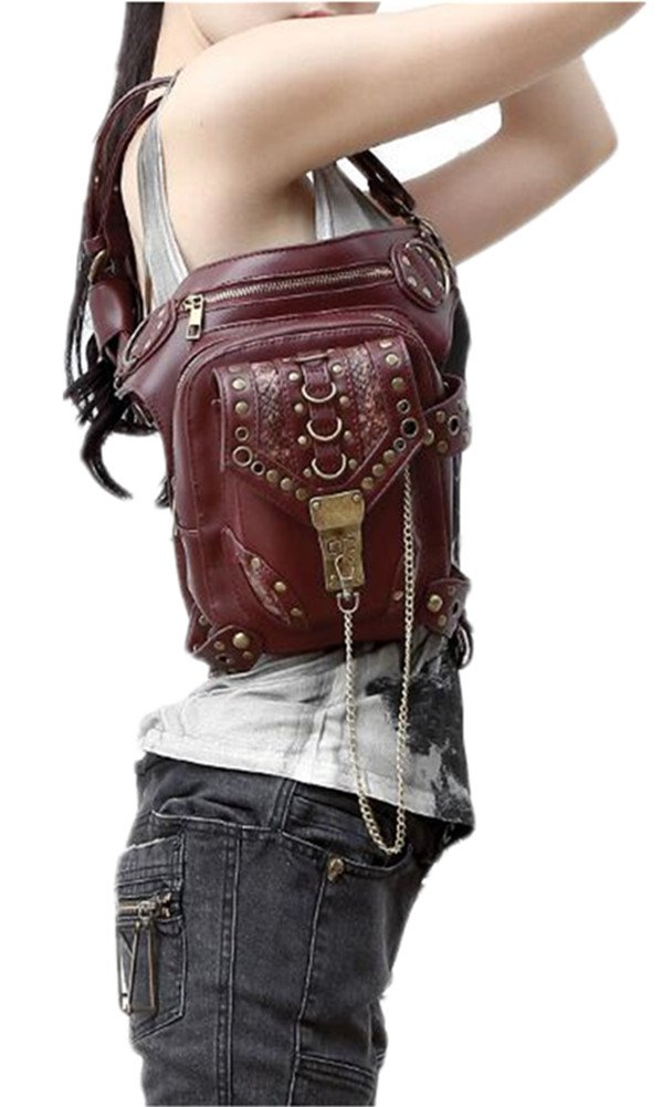 Wei fei Herren Damen Mode Steampunk Retro Outdoor Crossbody Schulter Outdoor Retro Taschen b365c0