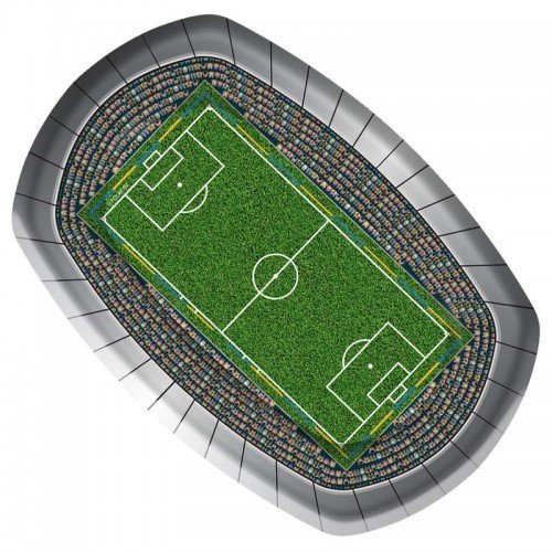 Party Plate Football 230cm 8 in Packet by CC