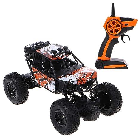 Brucelin - Coche teledirigido para todo terreno, escala 1/20, coche todoterreno RC 2.4G 4WD Rock Crawler, regalo camión naranja