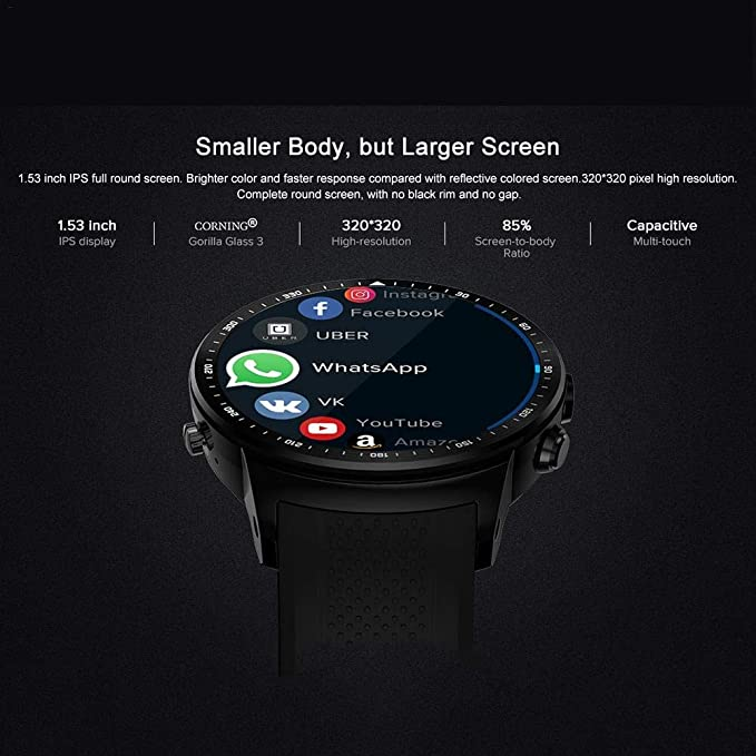 Eulan Zeblaze Thor Pro 3G GPS Bluetooth Smartwatch, Touch Screen Wrist Watch For Men/Women/Kids