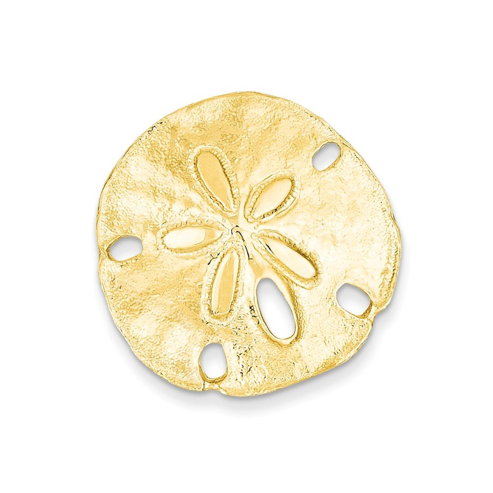 14k Polished Fits up to 8mm on Both Small Sand dollar Slide