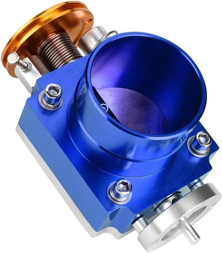 Simlug Throttle Body 70mm for General mechanical throttle CNC Aluminum Universal High Flow Intake Manifold Throttle Body Blue