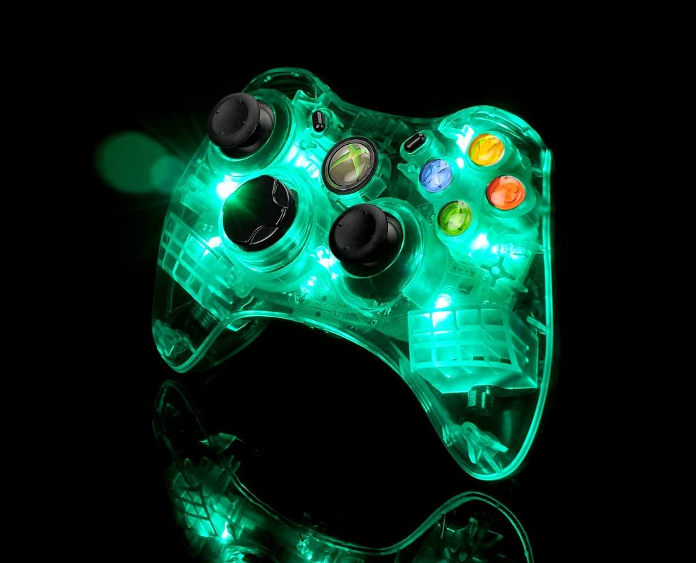 Amazon.com: Afterglow AX.1 Controller for Xbox 360 - Green: Video Games