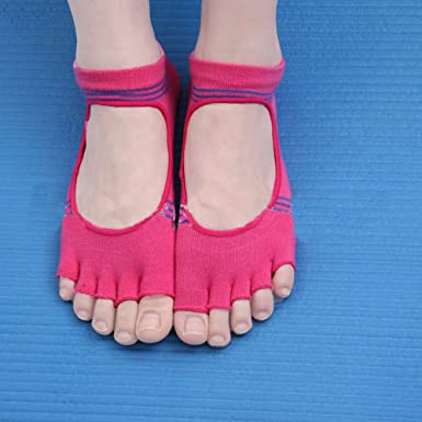 Amazon.com: sporealth Yoga Calcetines agarre antideslizante ...