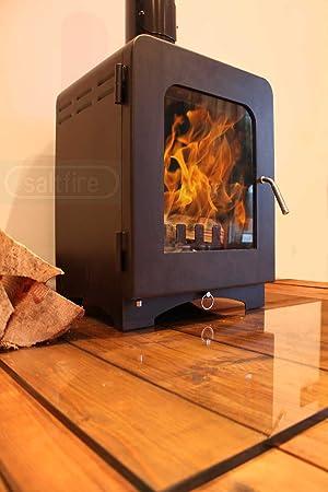 ST2 5 kW DEFRA aprobadas estufa de leña combustión limpia alta eficiencia grande cristal: Amazon.es: Hogar